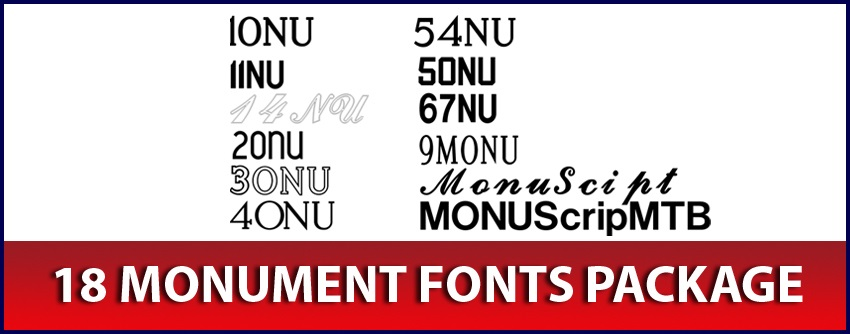 Monument Fonts package