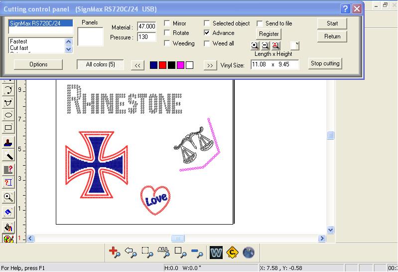Vinyl Cutter Software Rhinestone Winpcsign Pro 2010 Ebay
