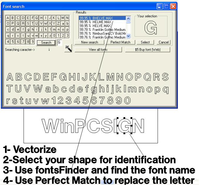 Fonts finder