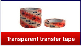 Transparent transfert tape