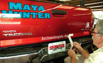 Vinyl and lettering for cars